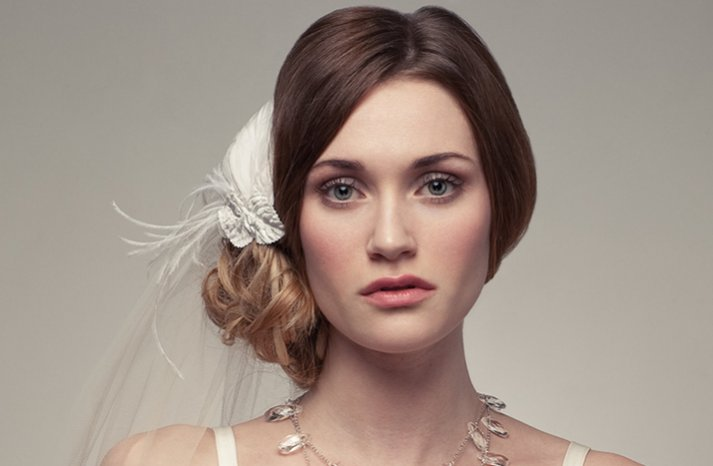 romantic wedding hair accessories bridal veil ivory hair flower