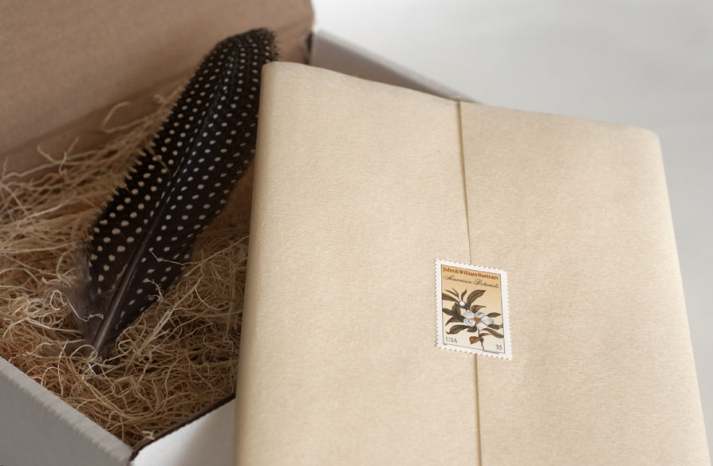 unforgettable wedding invitations feather enclosed stationery box