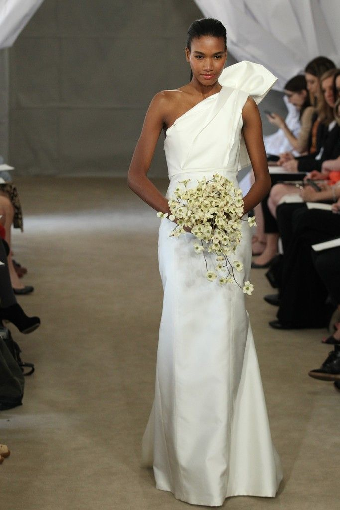 Spring 2013 bridal gowns Carolina Herrera wedding dress modern one shoulder