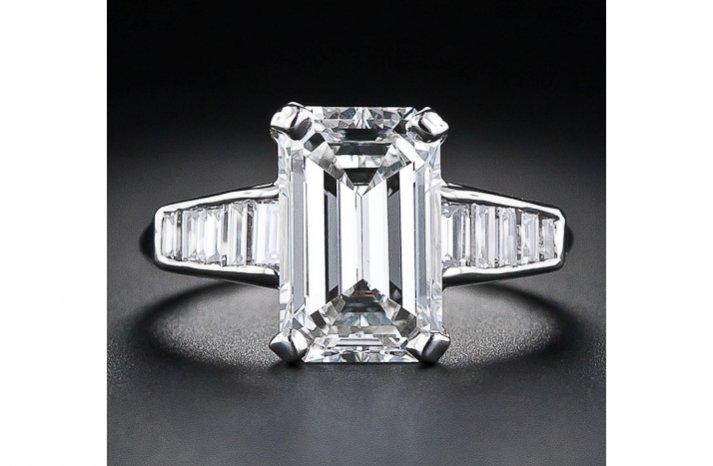angelina jolie engagement ring emerald cut diamond engagement rings vintage baguettes