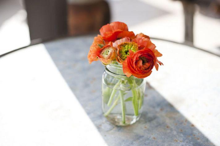 Wildflower Wedding Centerpieces Reception Table Decor Yellow Purple Orange