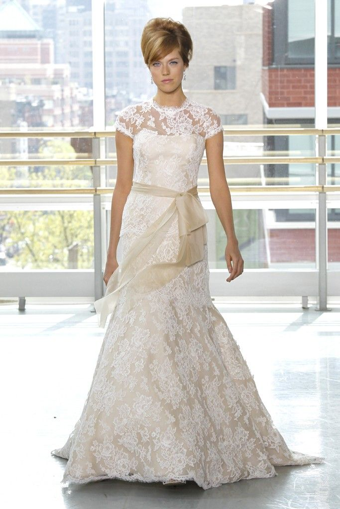 2013 wedding dress trend two tone bridal gowns nude white lace Rivini