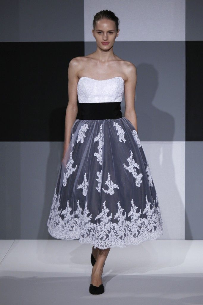 2013 wedding dress trend two tone bridal gowns black white lace