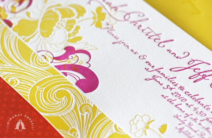 rasberry lemonade wedding invitations