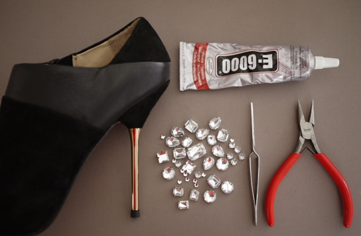 DIY wedding project Miu Miu bridal pumps crystal encrusted heels 2