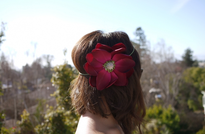 DIY wedding project bridal headband with flower 2
