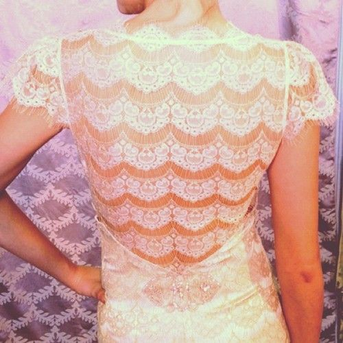 eco friendly wedding dress claire pettibone spring 2013 bridal gown