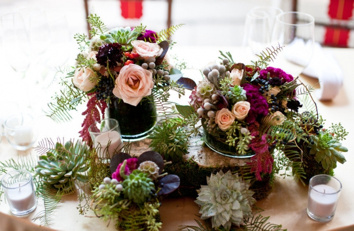 romantic wedding flowers fall rustic wedding