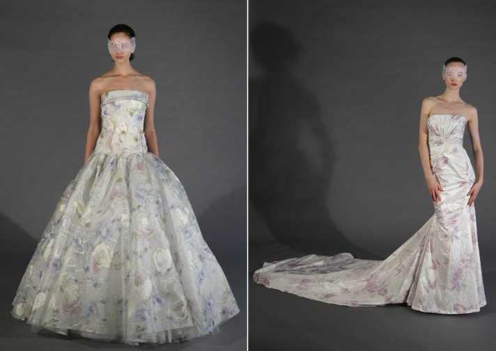 2013 wedding dress trends printed bridal gowns