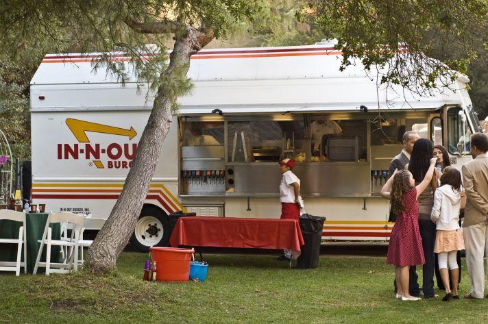 wedding food trucks in n out burger