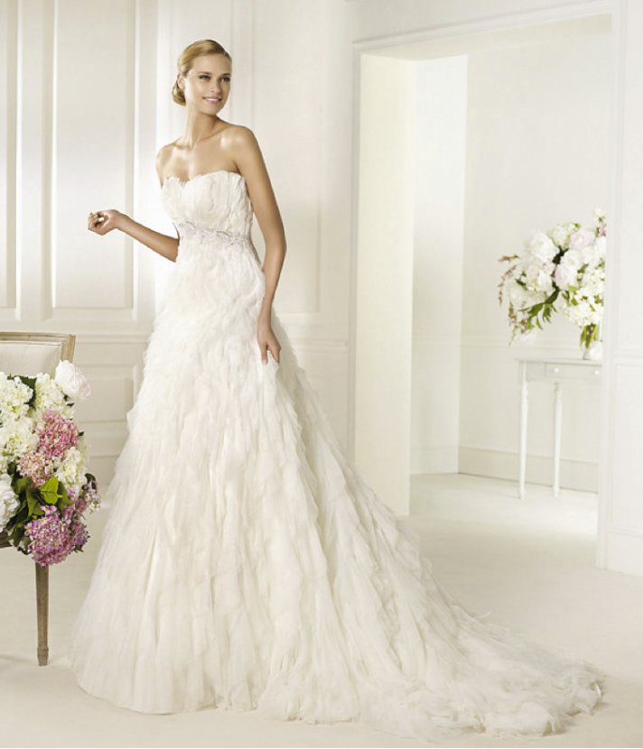 2013 wedding dress Pronovias Glamour collection bridal gowns Doncella