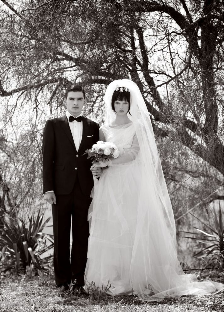 real wedding inspiration destination wedding ideas Sicily Italy black white bride groom portrait