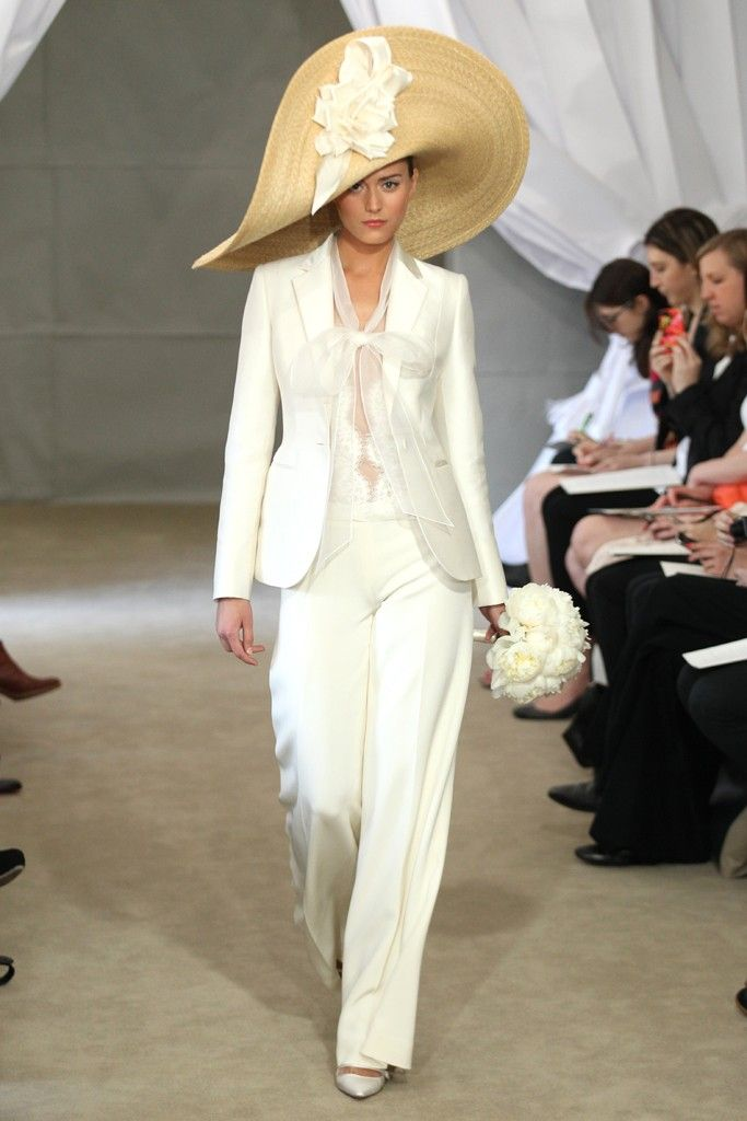 2013 wedding dress trends ivory bridal suit carolina herrera