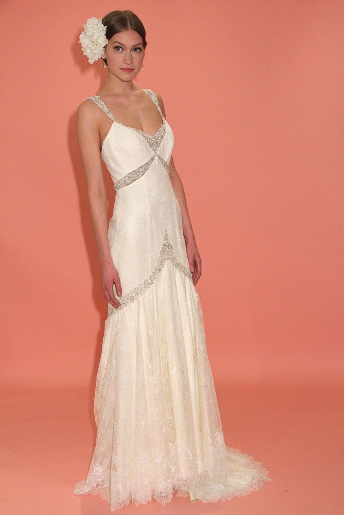 badgley mischka wedding dress spring 2013 bridal gowns vintage inspired drop waist