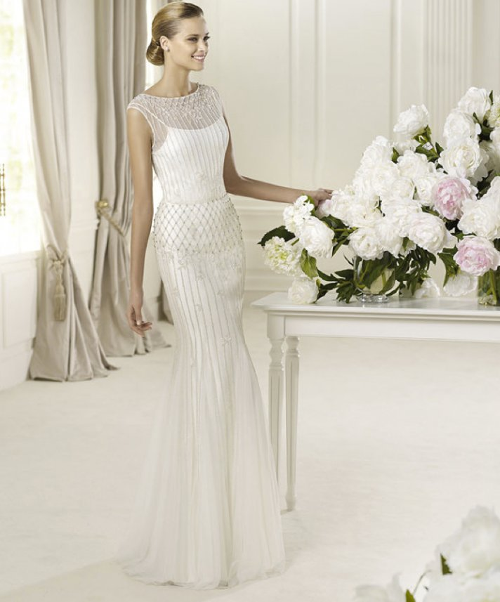 2013 wedding dress Pronovias bridal gowns fashion collection Delicia