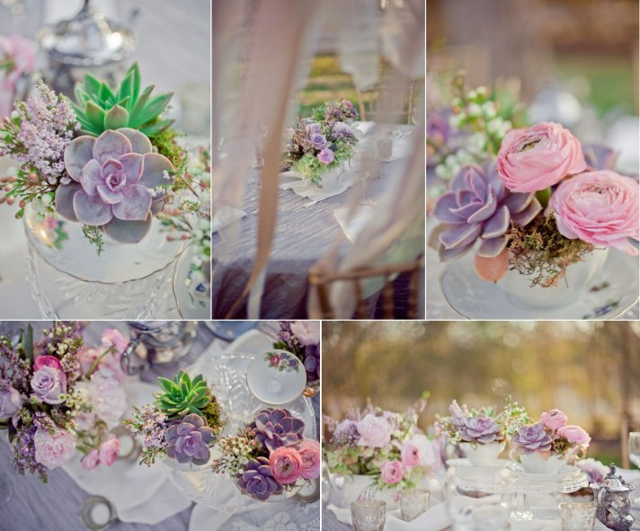 romantic wedding flowers vintage outdoor wedding succulents and ranunculus