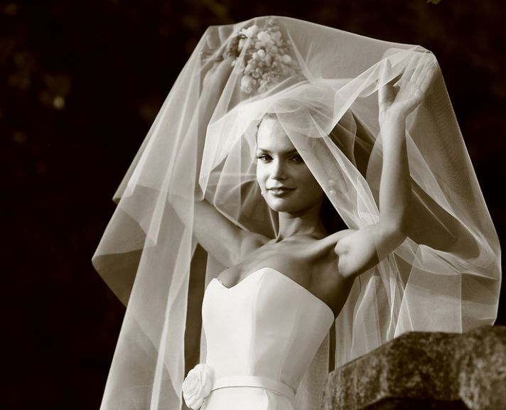 wedding style fashion trends 2013 bridal accessories drop veil 1