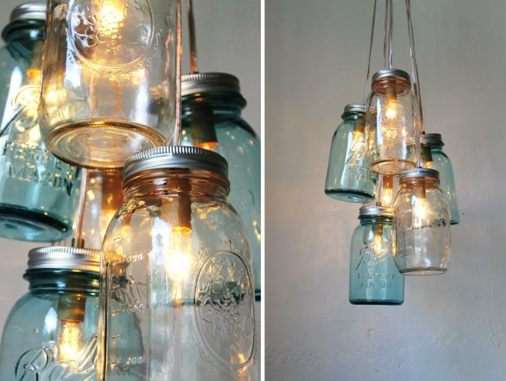 romantic vintage weddings chandeliers with mason jars 1