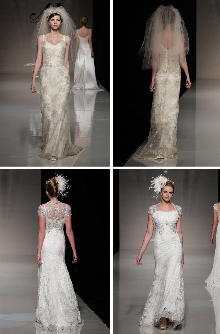 2013 wedding dress trends vintage inspired bride metallic wedding dresses