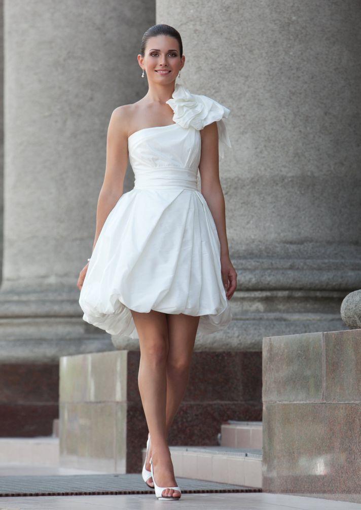 one shoulder LWD for wedding reception