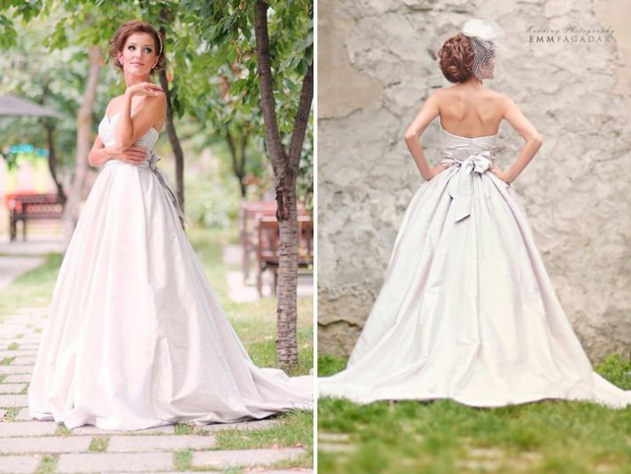 taffeta ballgown wedding dress