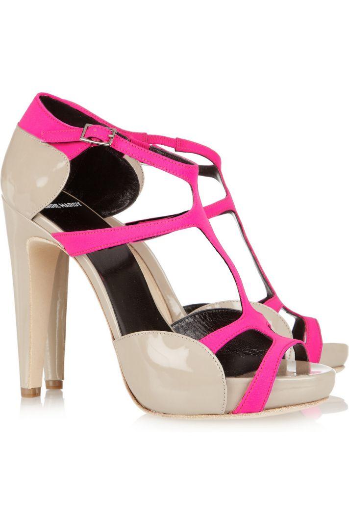 beige hot pink wedding shoes bridal splurge accessories 1