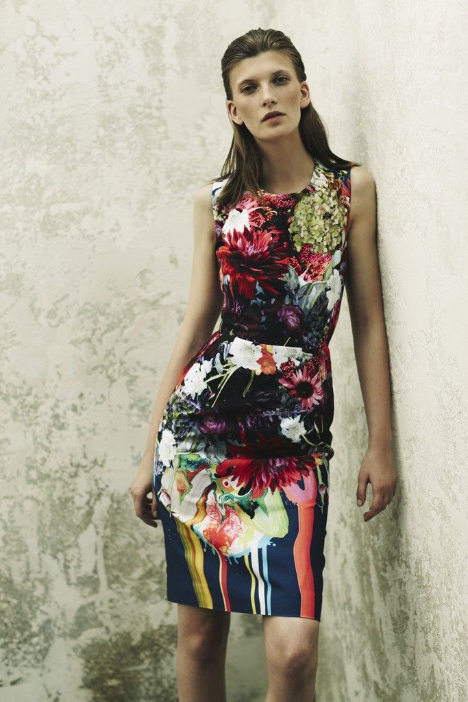 preen floral printed bridesmaid dress