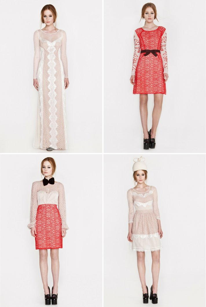 alice temperley wedding dress inspiration resort 2013 dresses