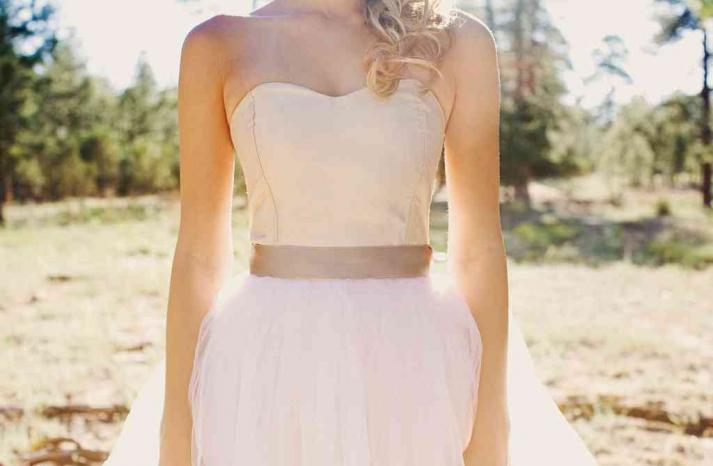 blush pink Etsy wedding dress romantic bridal gown tulle