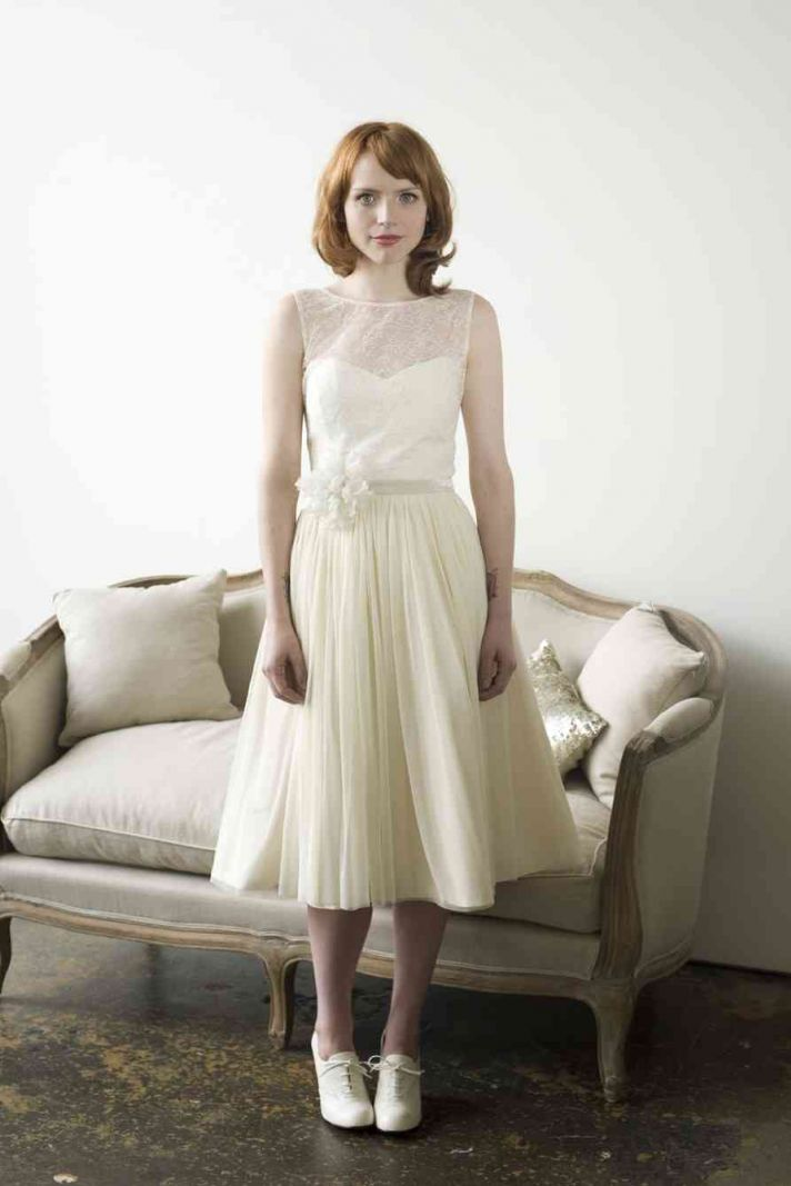 Etsy Vintage Wedding Dress 5 Fancy tea length wedding dress