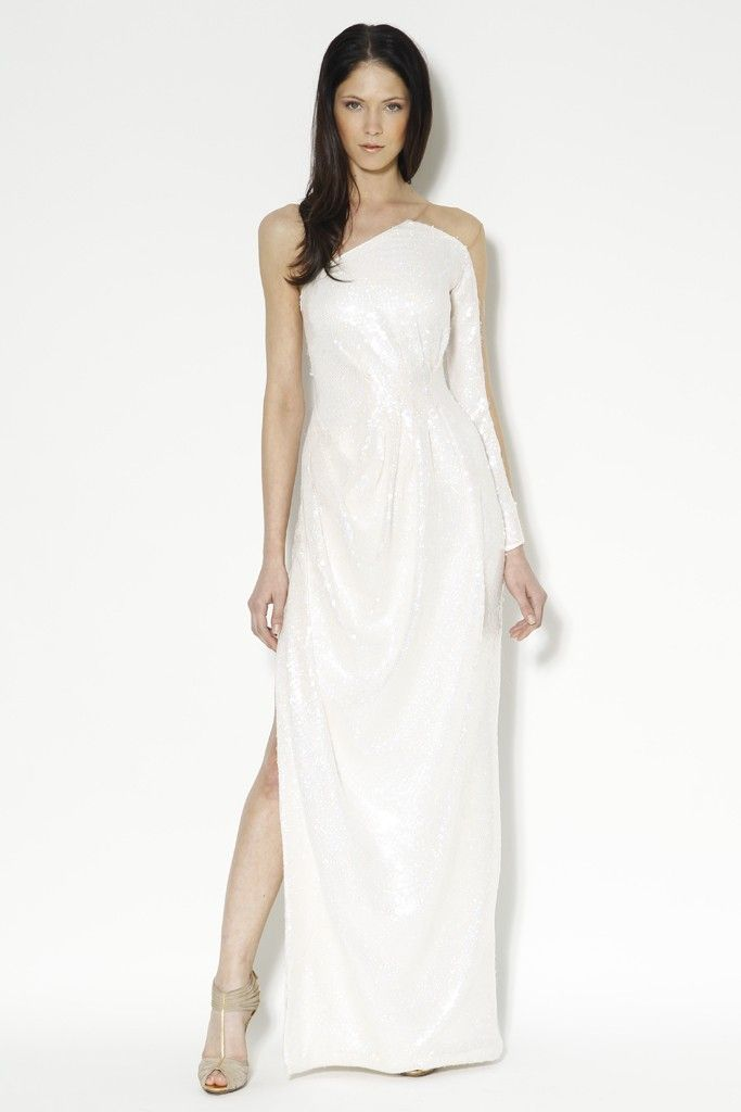 one shoulder wedding dress by Carlos Miele