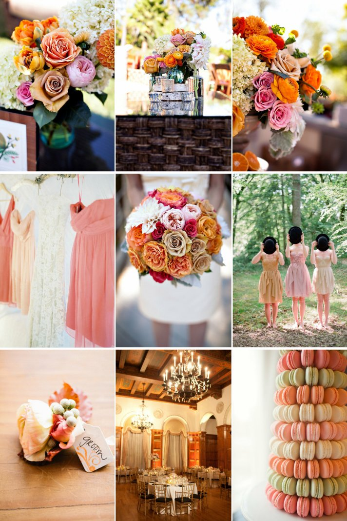 A unique wedding color palette to fall for- whimsical garden romance