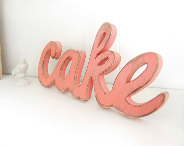 shabby chic wedding sign cake