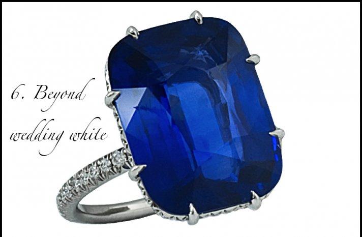 wedding hot list for summer 2012 non white wedding dresses rings