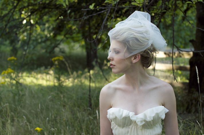 soft tulle bridal veil romantic wedding