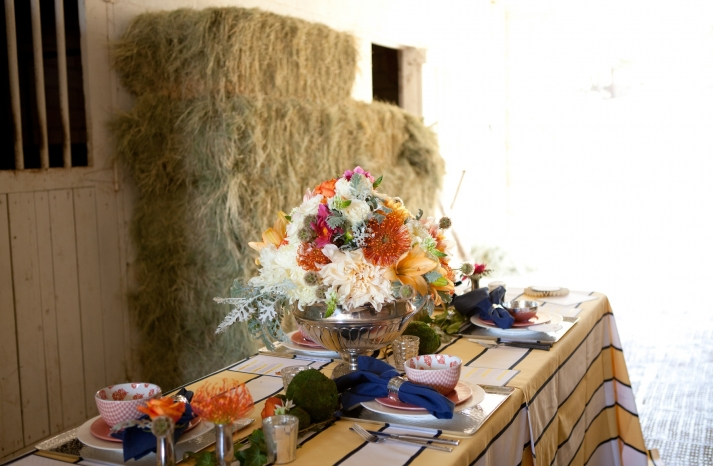 Kentucky Derby inspired wedding theme bridal shower inspiration rustic tablescape