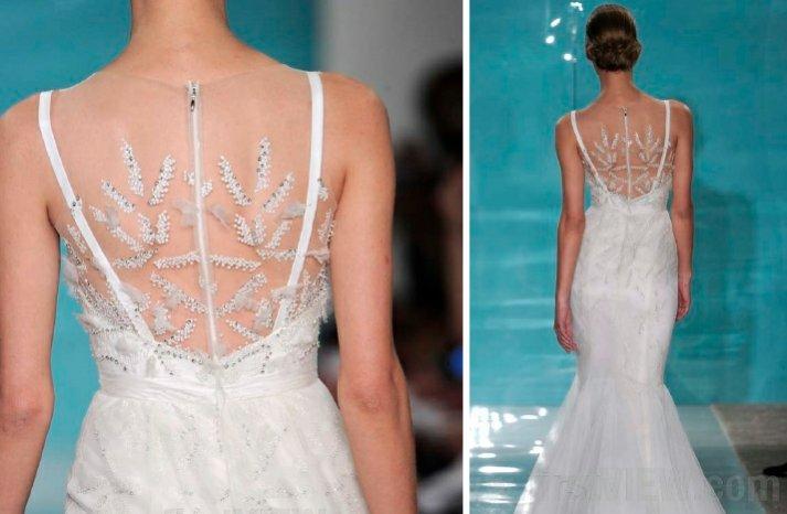 reem acra 2013 wedding dress statement back bridal gowns 2