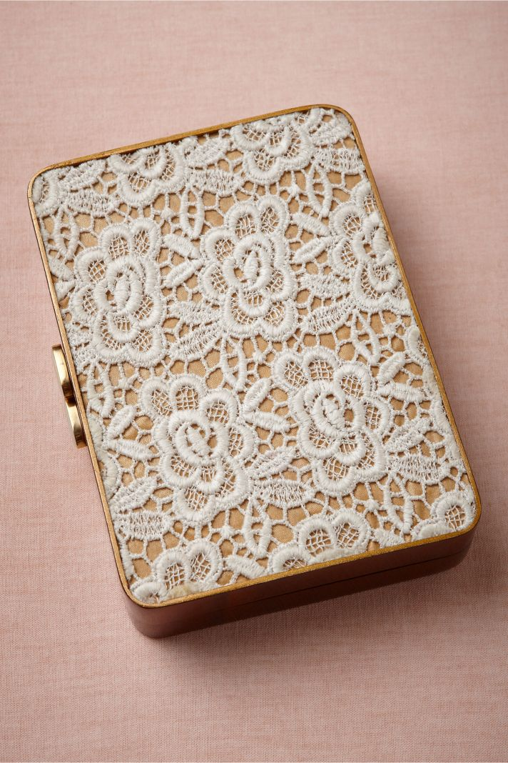BHLDN bridal accessories for vintage weddings lace clutch