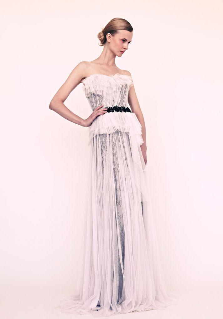 marchesa wedding dress for elegant brides black and white