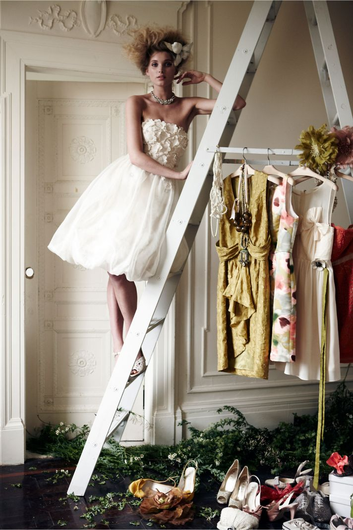 BHLDN bride LWD for wedding reception