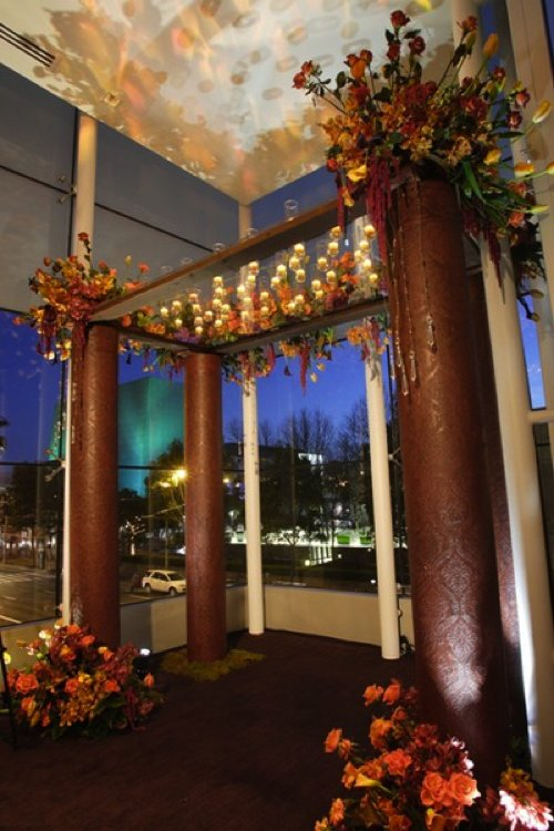 unique wedding ideas for interfaith wedding Jewish touches chuppah