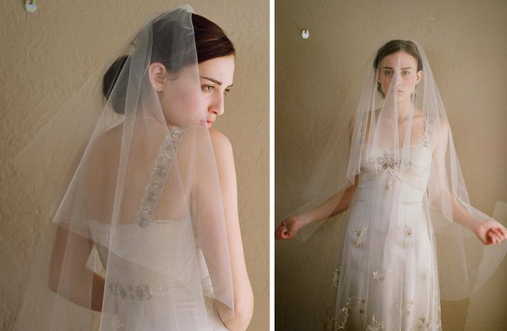 romantic wedding ideas barely there sheer bridal veil 1
