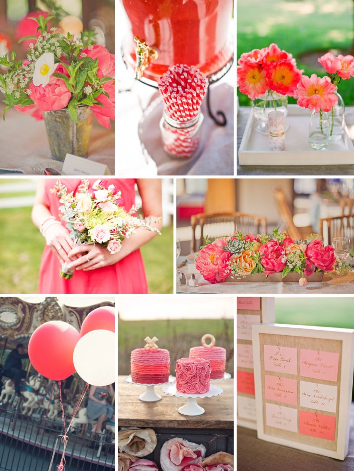 watermelon wedding inspiration summer spring wedding colors