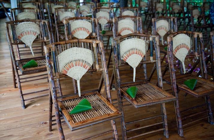 bamboo wedding inspiration ceremony seating