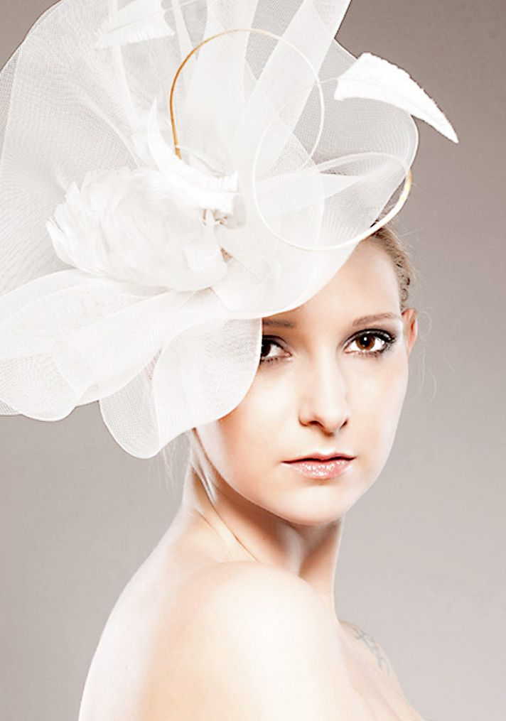 dramatic wedding hat