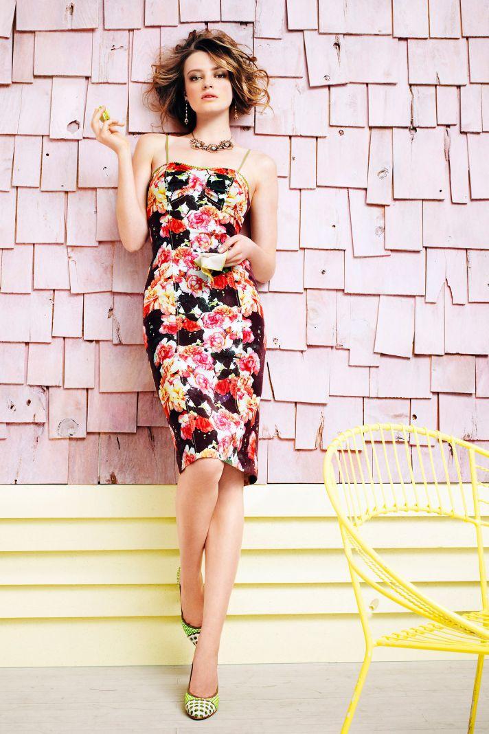 printed floral bridesmaid dress BHLDN