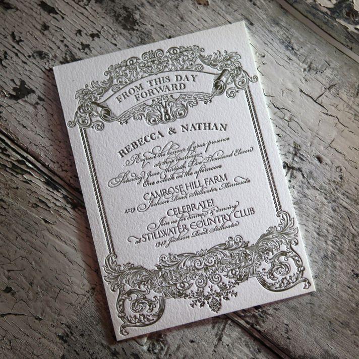 downton abbey vintage wedding inspiration letterpress wedding invitations