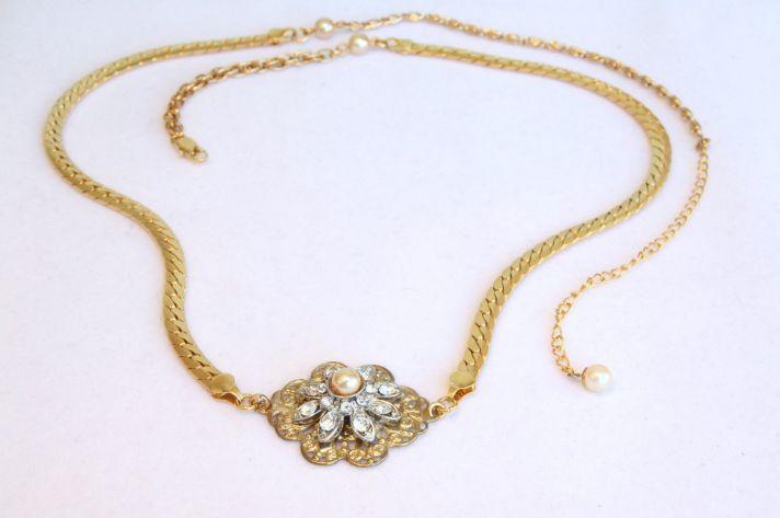 dainty gold bridal belt vintage wedding accessories