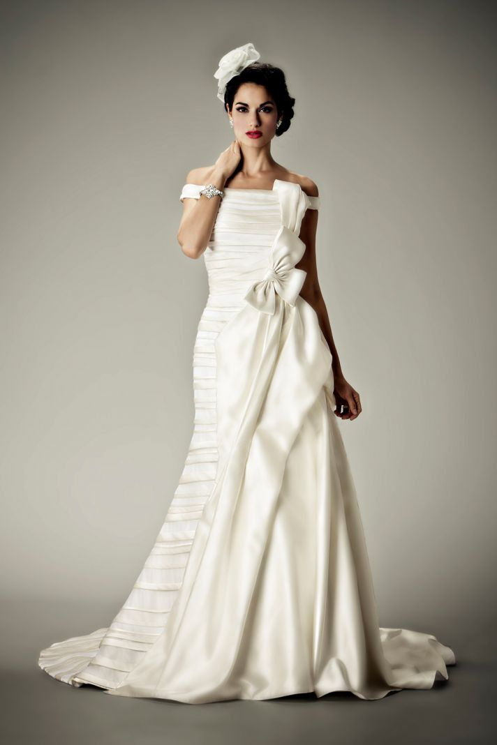 2012 wedding dresses Matthew Christopher bridal gown bandeau