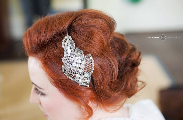 glamourous brides guide to wedding day style redhead vintage bride